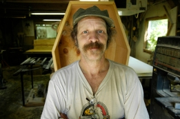 Richard Winter, coffin builder, Calais, VT